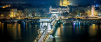 Szechenyi Chain Bridge from Budapest in night