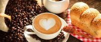 Heart in the coffee - good morning