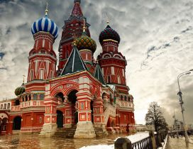 A beautiful red Cathedral from Moscow