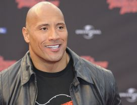 Dwayne Johnson in a black jacket - The Rock Johnson