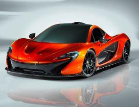 Orange McLaren P1 Concept - Sport car
