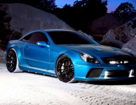 Turquoise Mercedes Benz SL65 AMG