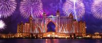 Fireworks over the Atlantis The Palm hotel