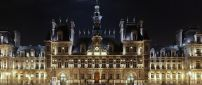 Beautiful Hotel de Ville from Paris in night