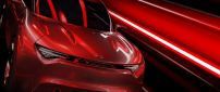 Red Kia sport car concept - Car wallpaper