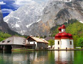 Beautiful Berchtesgaden Bavaria landscape
