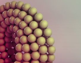 3D white spheres in a wallpaper