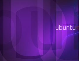 Purple Ubuntu Wallpaper - HD wallpaper