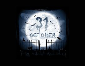 31 October - Halloween night in the world