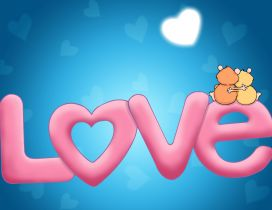 Big word love - HD wallpaper