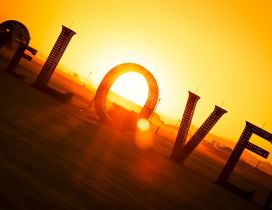 Beautiful sunset - Love is everything