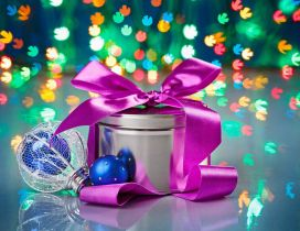 Colourful winter present - Happy Holiday Christmas