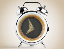 The funny coffee clock - good morning