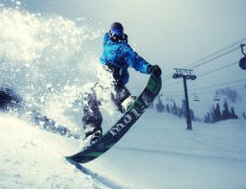 Snowboard time - beautiful winter sport