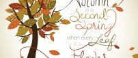 Beautiful message - autumn is the second spring