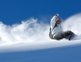 Beautiful winter sports - snowboard time