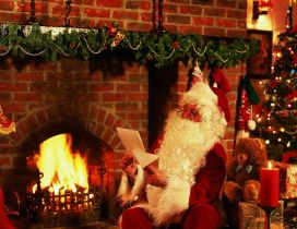 Santa Claus reading the letters from special kids