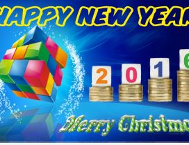 Colourful rubik cube - Happy New Year 2016