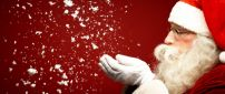 Santa Claus and snowflakes - HD Christmas Holiday