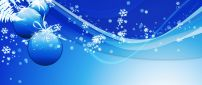 Blue Christmas balls and accessories - HD wallpaper