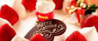 Delicious cake prepared for Santa Claus - HD wallpaper
