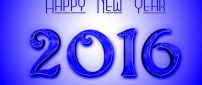 Blue wallpaper - Happy New Year 2016