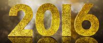 Golden and shiny 2016 - Happy New Year