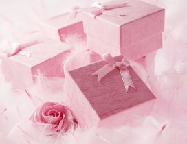 Beautiful pink gift for a special Valentine's Day