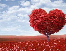 Wonderful magic love tree - Happy Valentine's Day