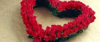 Beautiful heart made from red roses - Valentine's Day