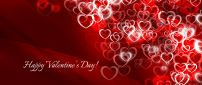Millions of red and white hearts - Happy Valentine's Day
