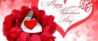 Happy Valentine's Day 2016 - red roses and special heart