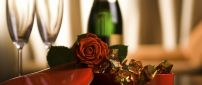 Champagne, chocolate and roses - Love Valentine's Day