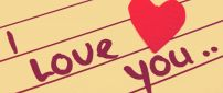 Simple Valentine's Day wallpaper - I love you
