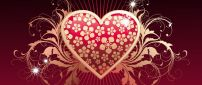 Golden heart - Happy Valentine's Day