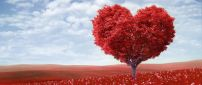 Wonderful magic love tree - Happy Valentine's Day