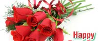 Love time - beautiful bouquet of roses - Valentine's Day
