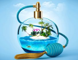 Summer time and small island in a bottle - ingenious perfume