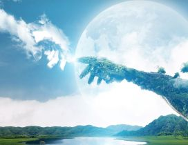 The power of Earth and sky  - 3D wonderful wallpaper