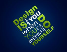Creative design wallpaper - message to you