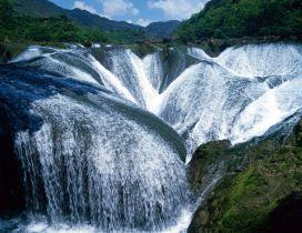 Big and wonderful waterfall in the mountain