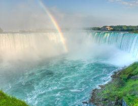 Rainbow in the waterfall - beautiful nature wallpaper