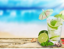 Fresh and delicious summer drink- lime and mint