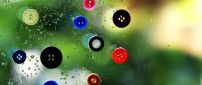 Abstract wallpaper - flying buttons