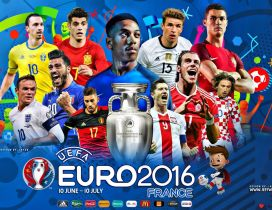 Football players from UEFA Euro 2016 teams - France 2016