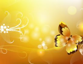 Golden vector design - beautiful butterfly