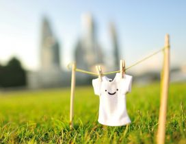 Cute little T-shirt with smiley face
