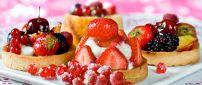 Delicious fruit tarts - HD wallpaper