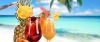 Delicious cocktail fruits - summer time
