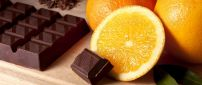 Chocolate with orange fruit - Sweet time